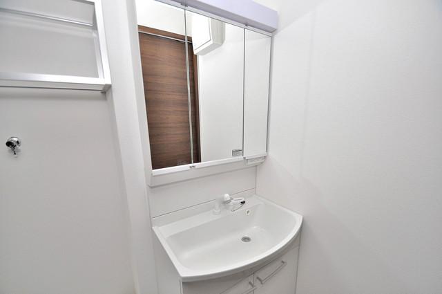 クリエオーレ南上小阪 豪華な洗面台はもちろんシャンプードレッサー完備です。