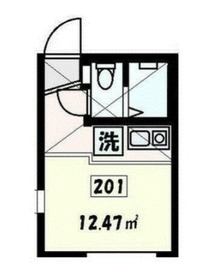 サニーウェルNIshiya2階Fの間取り画像