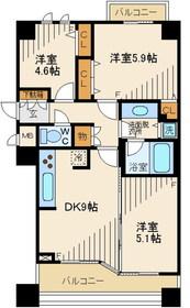 プラザハウス2階Fの間取り画像