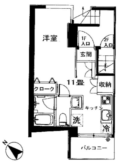 ロイヤルコート桜新町間取図
