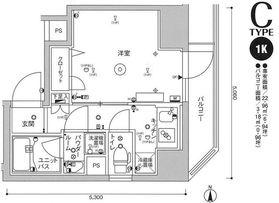 スカイコートパレス蒲田9階Fの間取り画像