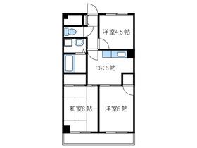 大川マンション5階Fの間取り画像