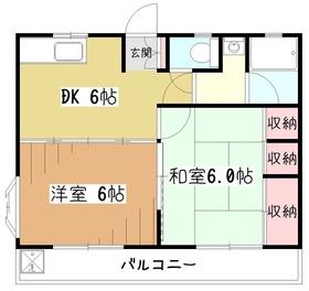 サンライズHOUYA2階Fの間取り画像