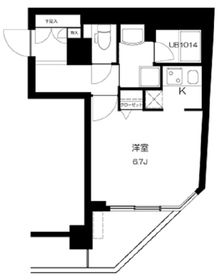 T&G神田マンション13階Fの間取り画像