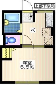 シティハイム光2番館1階Fの間取り画像