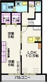 東戸塚駅 徒歩19分2階Fの間取り画像