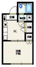 カーザ北新宿2階Fの間取り画像