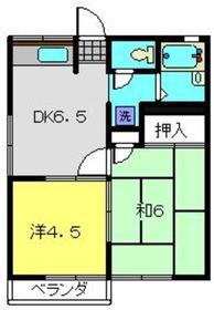 ミノルハイムA2階Fの間取り画像