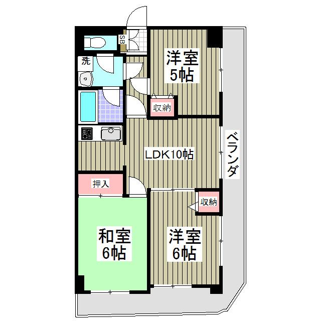 地下鉄成増駅 徒歩23分間取図