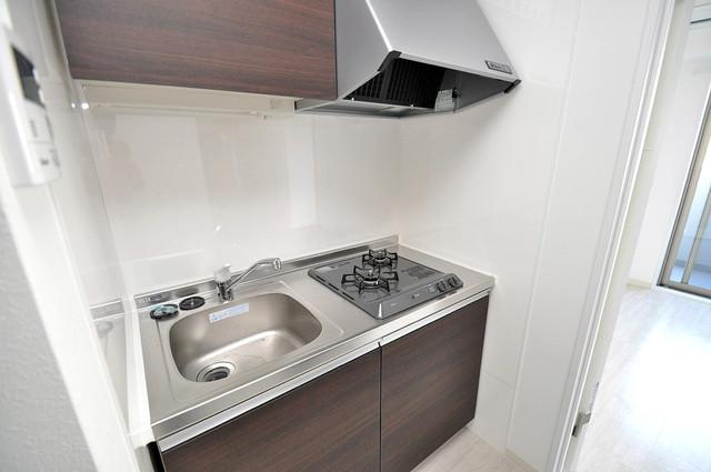 ラ・ハイール北巽 システムキッチンは広々と使えて、お料理が楽しくなります。