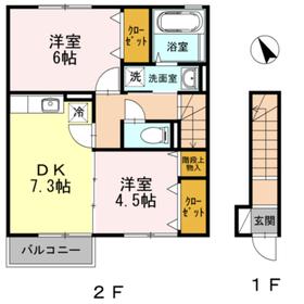 ロイヤルパークス2階Fの間取り画像