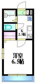 ベネットハイム1階Fの間取り画像