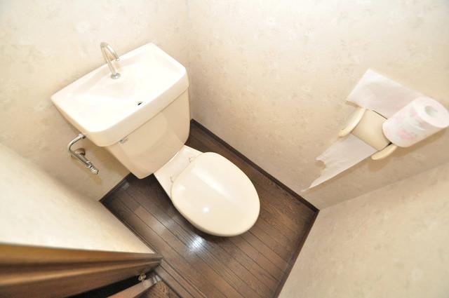 CTビュー永和 清潔感のある爽やかなトイレ。誰もがリラックスできる空間です。