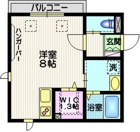 カーサ白金台2階Fの間取り画像