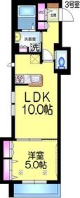 仮称)弁天1丁目メゾン3階Fの間取り画像