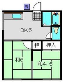 川嶋荘2階Fの間取り画像