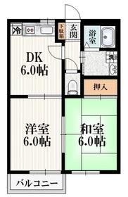 メゾンドフェルメール1階Fの間取り画像