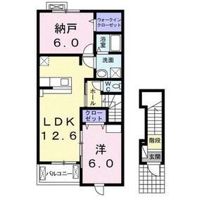 アラバスタ2階Fの間取り画像