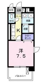 モンリヴィエール3階Fの間取り画像