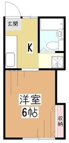 Y'sアパートメント1階Fの間取り画像