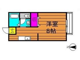生坂サンプラザ1階Fの間取り画像