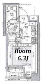 グランスイート月島リエール7階Fの間取り画像