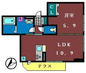 ノルン1階Fの間取り画像