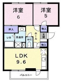 宮山駅 徒歩5分3階Fの間取り画像
