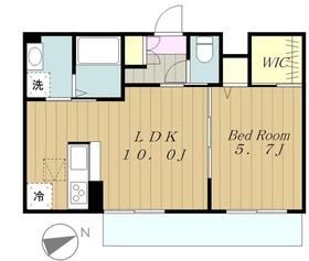 RiverWindⅡ3階Fの間取り画像