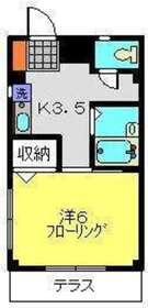 メゾン・ポルテ2階Fの間取り画像