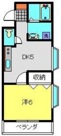 ボヌール片倉2階Fの間取り画像