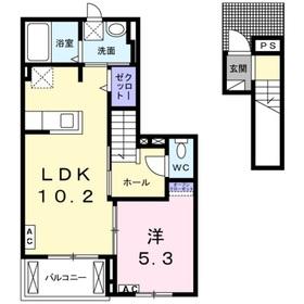 リジエールⅠ2階Fの間取り画像