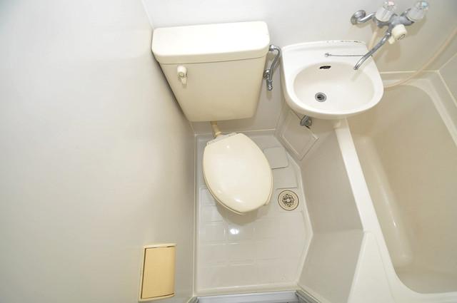 サンフォレスト布施 清潔感のある爽やかなトイレ。誰もがリラックスできる空間です。