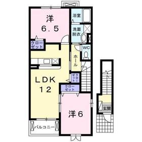 伊勢原駅 徒歩19分2階Fの間取り画像