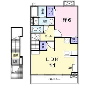 アイルヴィラ2階Fの間取り画像