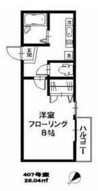 アイカーサ横浜4階Fの間取り画像