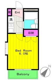 生田駅 徒歩15分3階Fの間取り画像