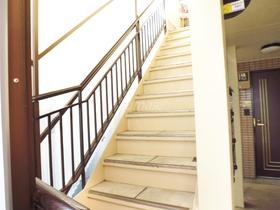 2階のお部屋へはこの階段で♪