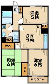 ハロッズプラザ3階Fの間取り画像