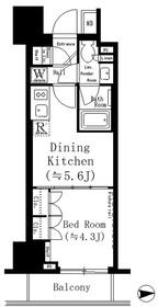 ルフォンプログレ文京湯島8階Fの間取り画像