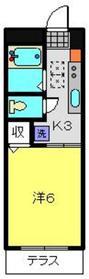 桂ハイム1階Fの間取り画像