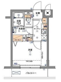 フェルクルール新横浜2階Fの間取り画像