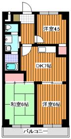 ヴェルシェ和光4階Fの間取り画像