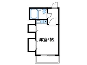 オオゼキハイム3階Fの間取り画像