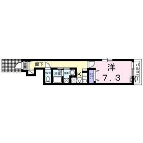 ル ボア ダキ1階Fの間取り画像