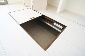 大きな床下収納付き