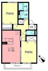 フィオーレ2階Fの間取り画像