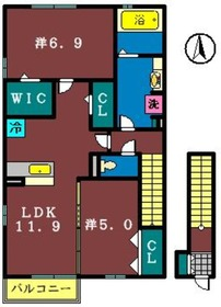 エクレール(高津東)2階Fの間取り画像
