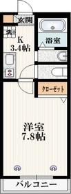 ザ・レジデンス新宿北1階Fの間取り画像
