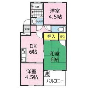 クラウンズマンション3階Fの間取り画像